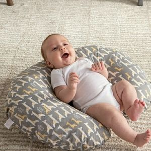 Baby Boppy Pillow grey Giraffe printed cover